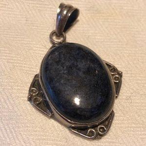 Jewelry - Large Sterling Blue Lapis Statement Pendant